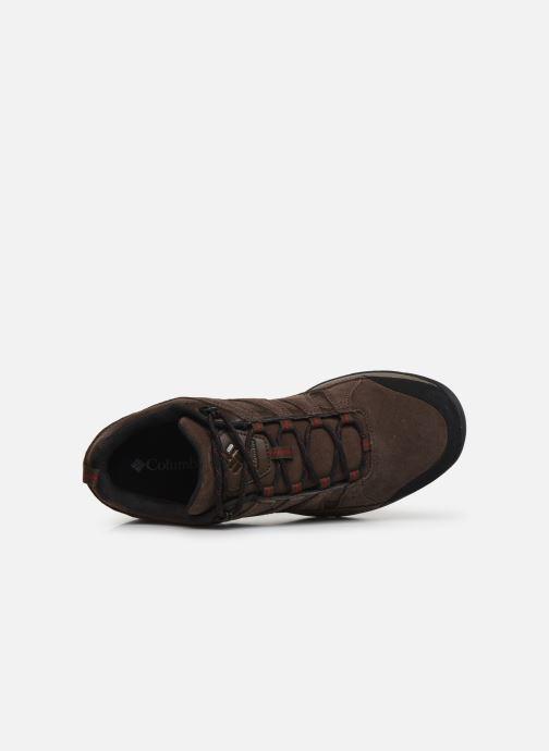 Zapatillas de deporte Columbia Redmond V2 Leather Waterproof Marrón vista lateral izquierda