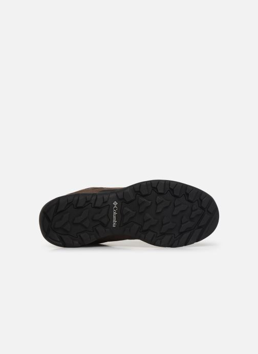 Zapatillas de deporte Columbia Redmond V2 Leather Waterproof Marrón vista de arriba