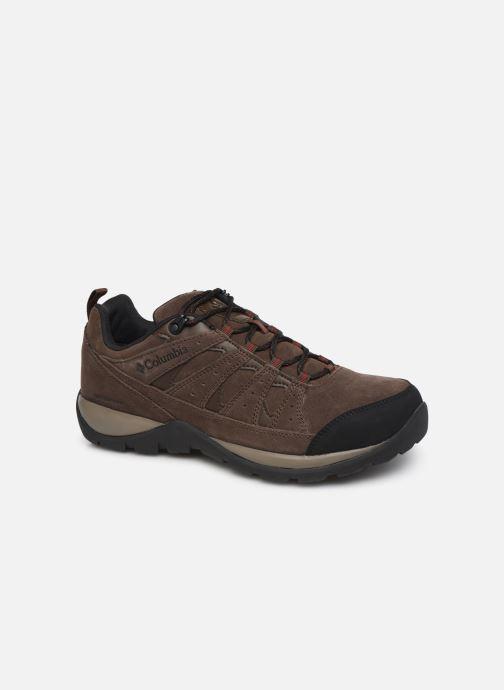 Chaussures de sport Columbia Redmond V2 Leather Waterproof Marron vue détail/paire