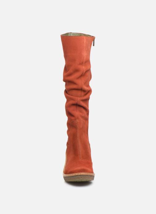 Bottes El Naturalista Haya N5178 C Rouge vue portées chaussures