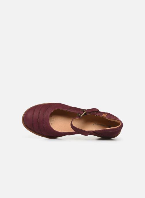 Zapatos de tacón El Naturalista Aqua N5327 C Vino vista lateral izquierda