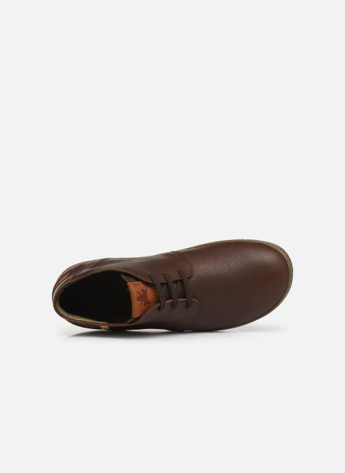 Zapatos con cordones El Naturalista Meteo NF98 C Marrón vista lateral izquierda