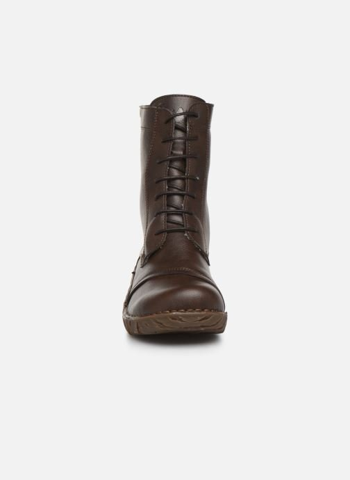 Ankle boots El Naturalista Yggdrasil NG57T C Brown model view