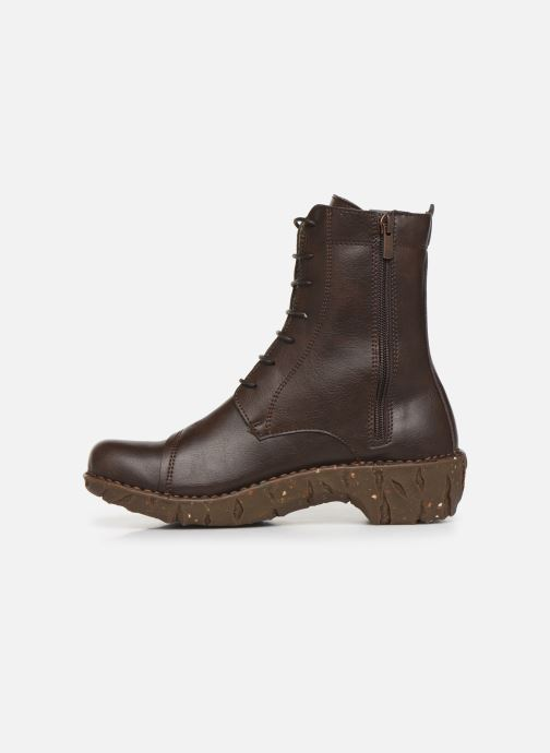 Ankle boots El Naturalista Yggdrasil NG57T C Brown front view