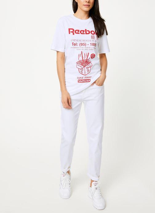 Reebok T-shirt - Cl Itl Noodles Tee (Blanc) - Vêtements (398341)