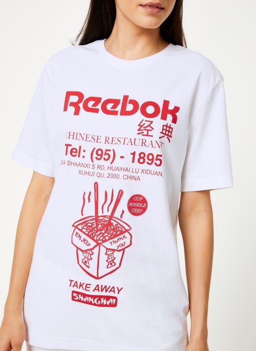 Tøj Reebok Cl Itl Noodles Tee Hvid se forfra