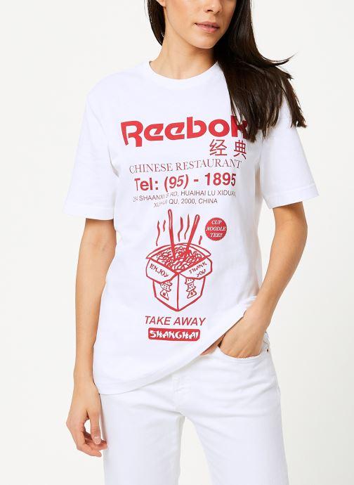 Tøj Reebok Cl Itl Noodles Tee Hvid Se fra højre