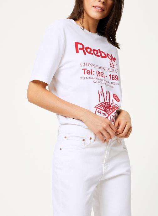 Tøj Reebok Cl Itl Noodles Tee Hvid detaljeret billede af skoene