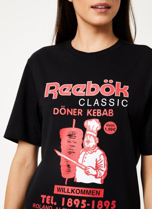 Vêtements Reebok Cl Itl Doner Tee Noir vue face