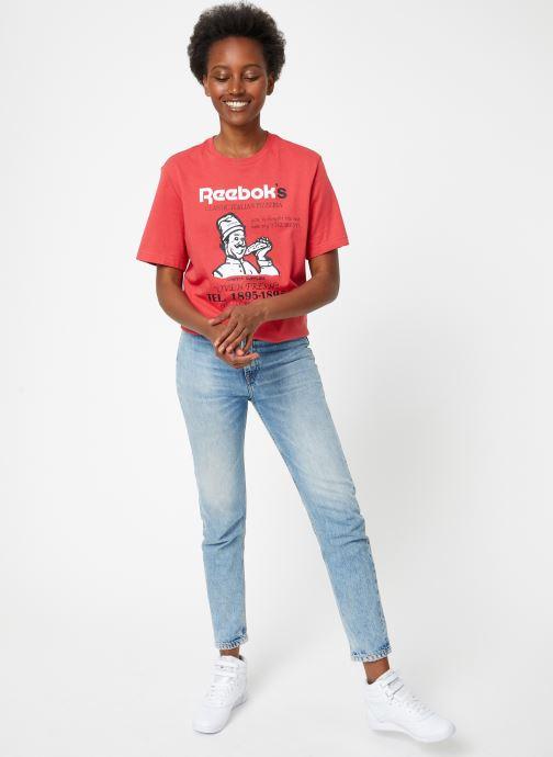 Vêtements Reebok Cl Itl Pizza Tee Rouge vue bas / vue portée sac