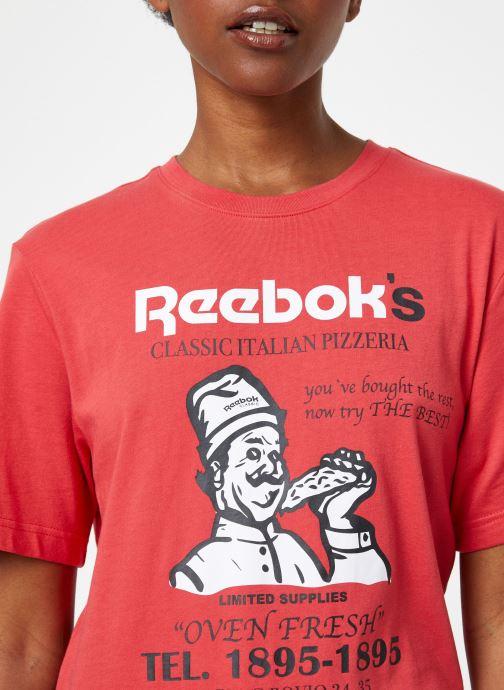 Vêtements Reebok Cl Itl Pizza Tee Rouge vue face
