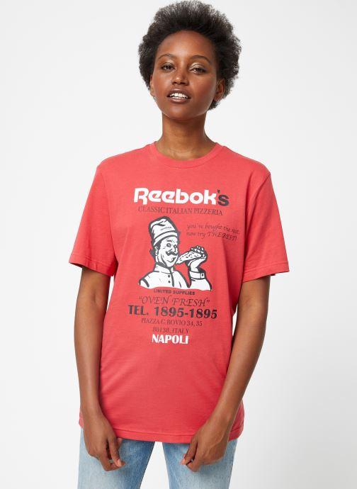 Vêtements Reebok Cl Itl Pizza Tee Rouge vue droite