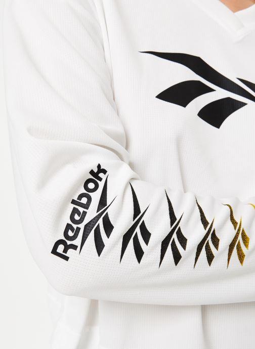 Vêtements Reebok Cl V P Cropped Longl Blanc vue face