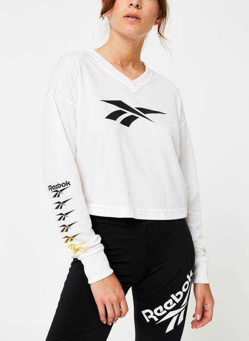 Vêtements Reebok Cl V P Cropped Longl Blanc vue droite