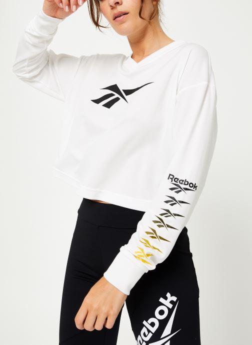 Vêtements Reebok Cl V P Cropped Longl Blanc vue détail/paire