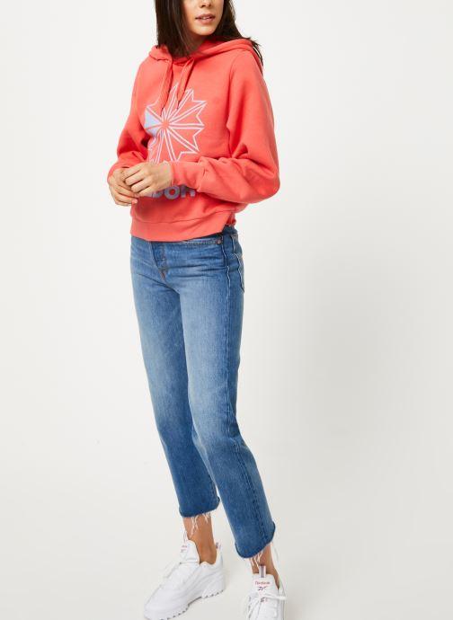 Reebok Sweatshirt hoodie - Cl Fl Big Logo Hoodi (Rose) - Vêtements (398364)