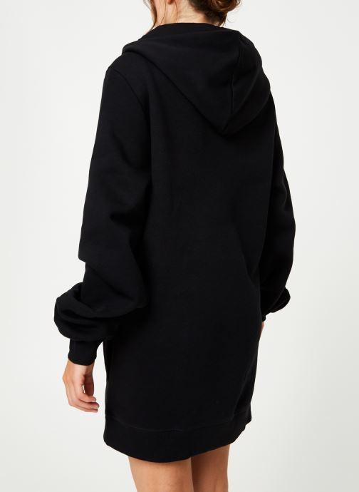 Vêtements Reebok Cl V P Hoodied Dress Noir vue portées chaussures