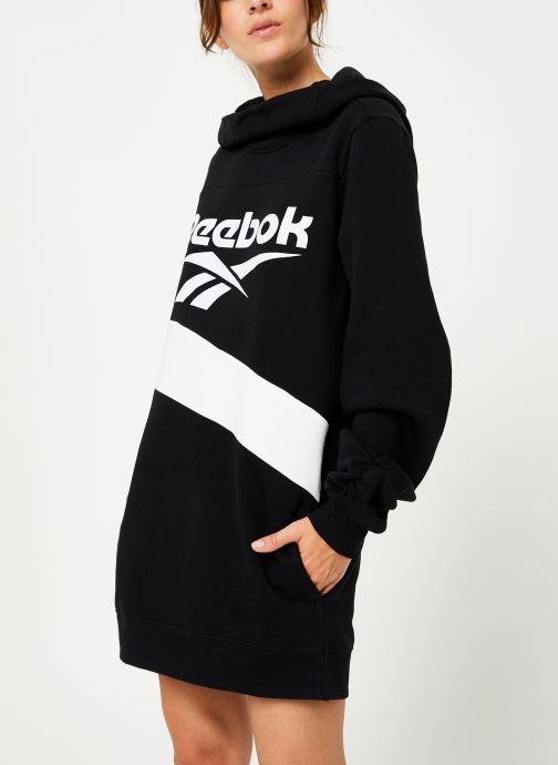 Vêtements Reebok Cl V P Hoodied Dress Noir vue droite