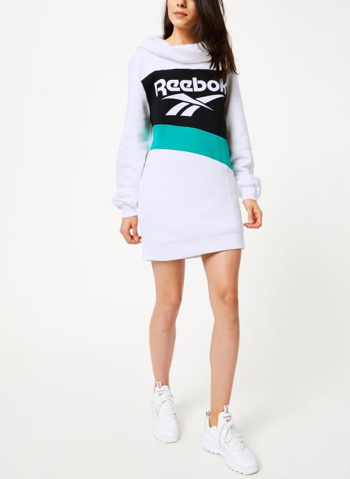 Vêtements Reebok Cl V P Hoodied Dress Blanc vue bas / vue portée sac