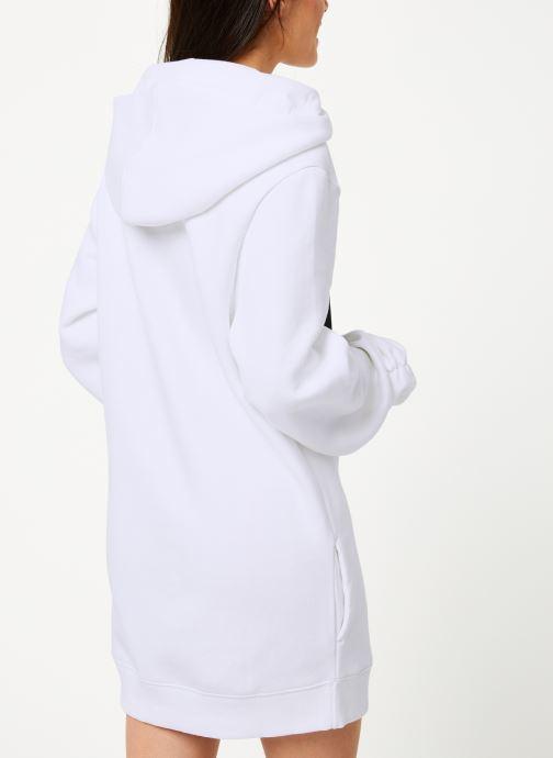 Vêtements Reebok Cl V P Hoodied Dress Blanc vue portées chaussures