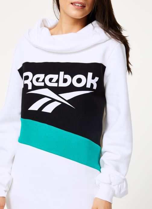 Vêtements Reebok Cl V P Hoodied Dress Blanc vue face