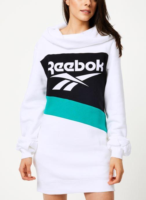 Vêtements Reebok Cl V P Hoodied Dress Blanc vue droite