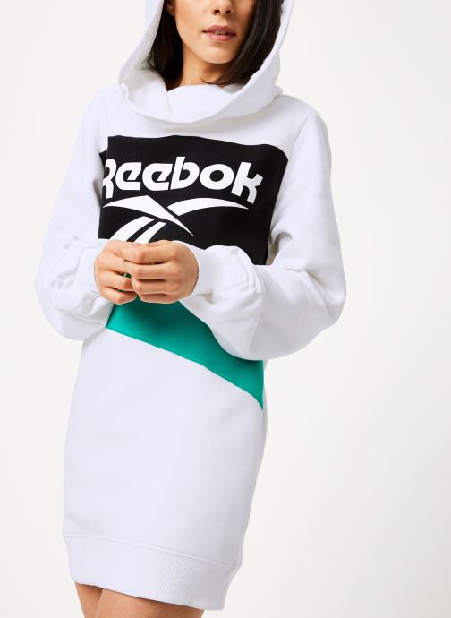 Vêtements Reebok Cl V P Hoodied Dress Blanc vue détail/paire