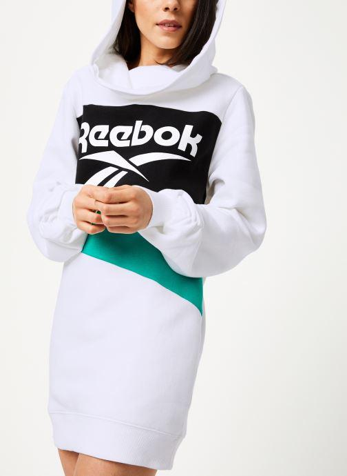 Vêtements Reebok Cl V P Hoodied Dress Blanc vue détail/paire