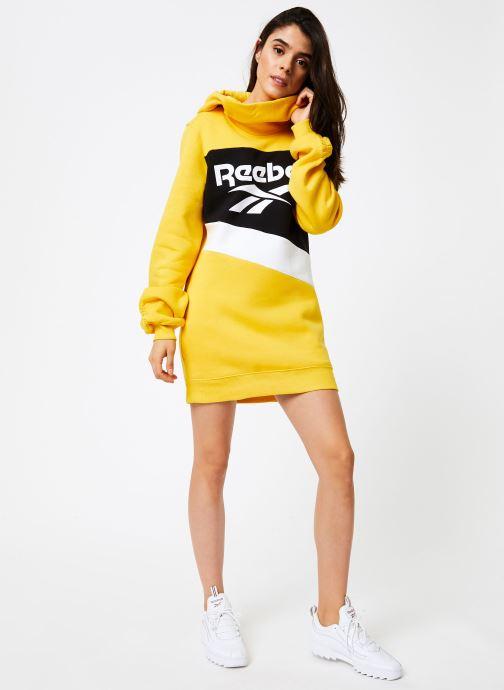 Vêtements Reebok Cl V P Hoodied Dress Jaune vue bas / vue portée sac