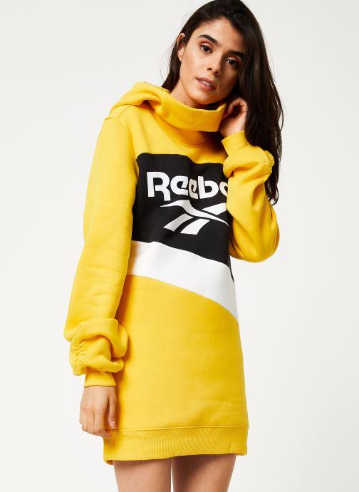 Vêtements Reebok Cl V P Hoodied Dress Jaune vue détail/paire