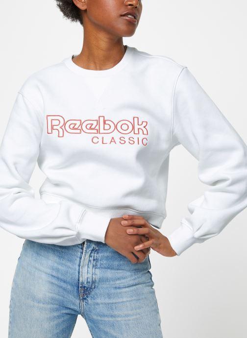 Kleding Reebok Cl Fl Reebok Crew Wit detail