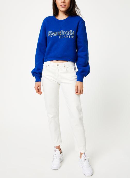 Reebok Sweatshirt - Cl Fl Reebok Crew (Bleu) - Vêtements (398371)