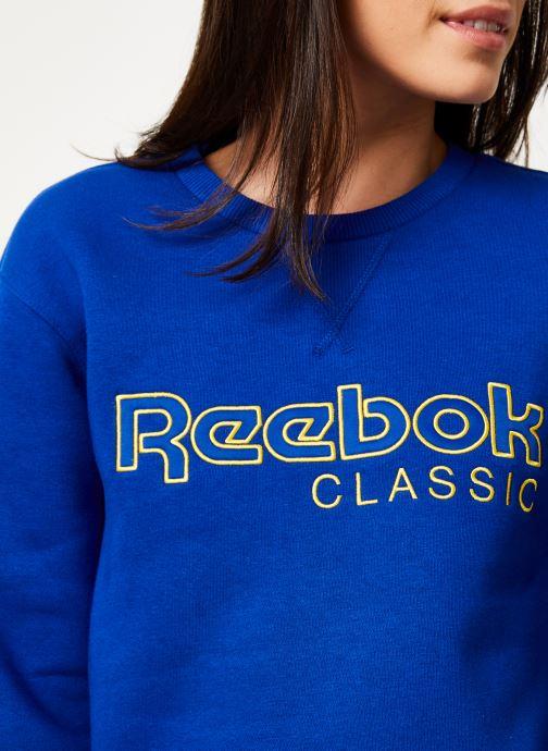 Vêtements Reebok Cl Fl Reebok Crew Bleu vue face