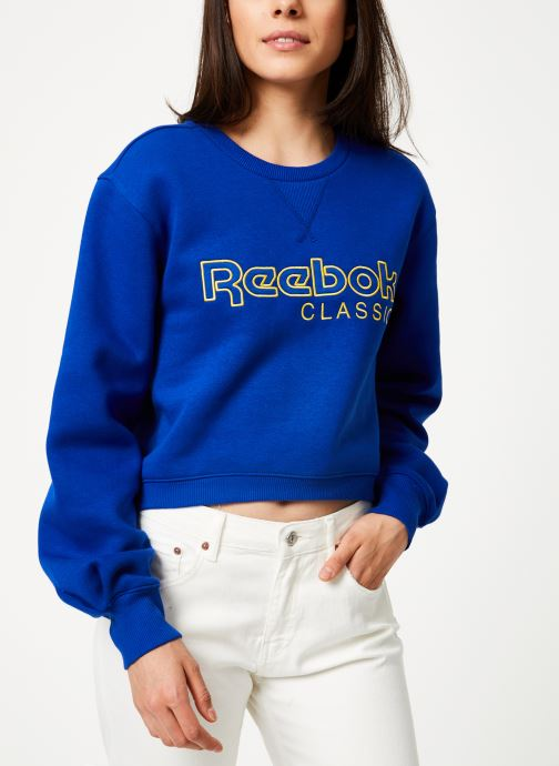 Kleding Reebok Cl Fl Reebok Crew Blauw detail