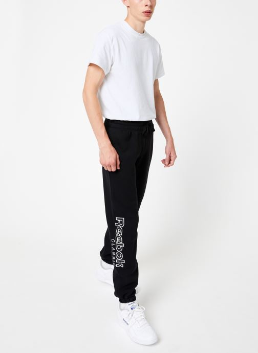 Vêtements Reebok Cl Fl Reebok Pant Noir vue bas / vue portée sac