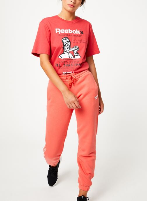 Vêtements Reebok Cl Fl Reebok Pant Rose vue bas / vue portée sac