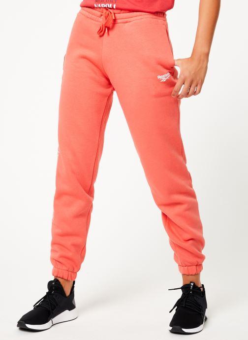 Vêtements Reebok Cl Fl Reebok Pant Rose vue détail/paire