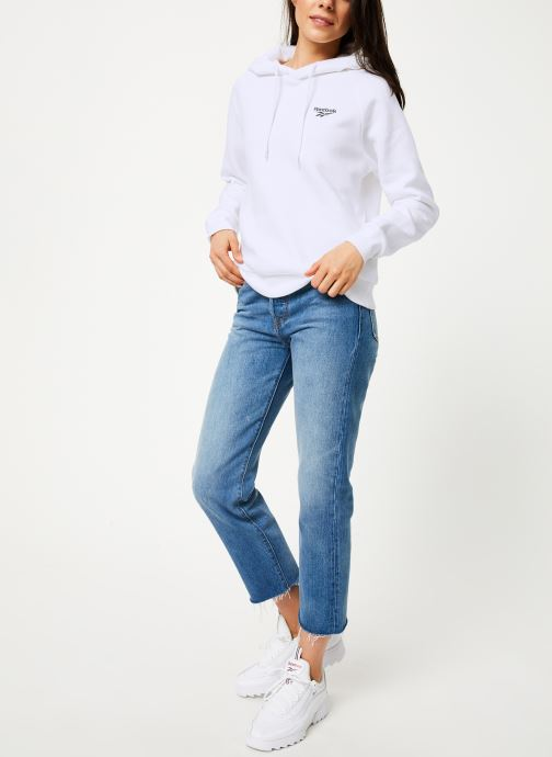Vêtements Reebok Cl Gp Crop  Hoodie S Blanc vue bas / vue portée sac