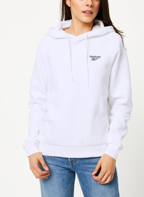 Vêtements Reebok Cl Gp Crop  Hoodie S Blanc vue droite