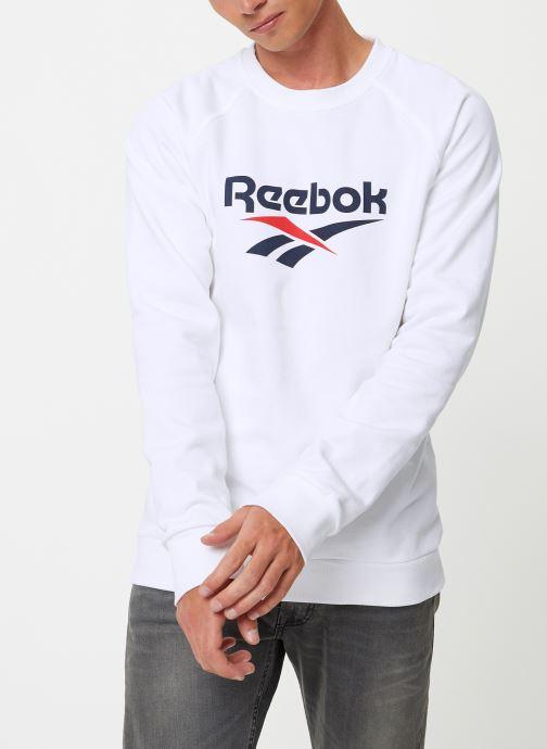 Vêtements Reebok Cl V Unisex Crew Blanc vue droite