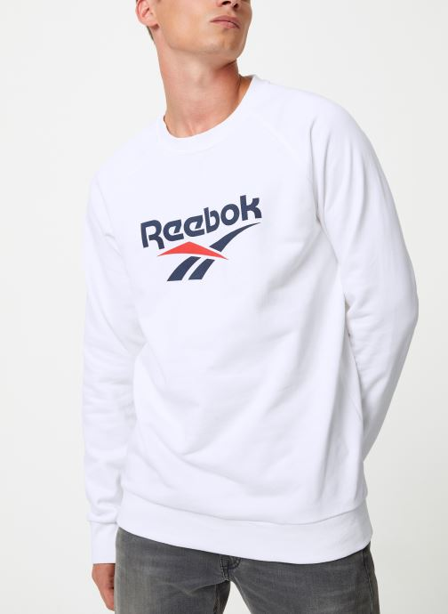 Vêtements Reebok Cl V Unisex Crew Blanc vue détail/paire