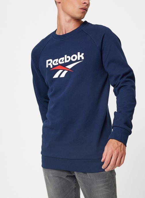 Vêtements Reebok Cl V Unisex Crew Bleu vue droite