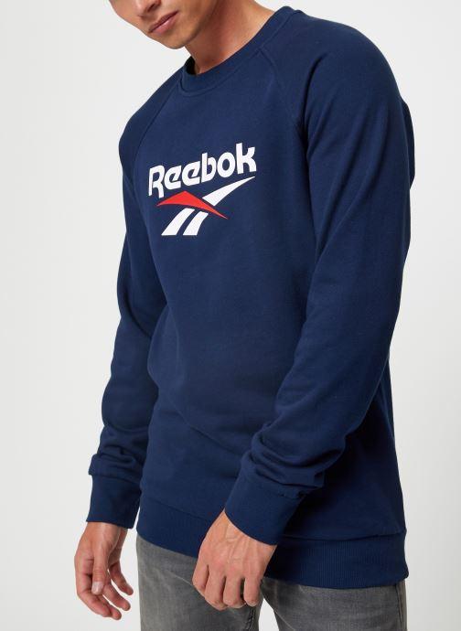 Vêtements Reebok Cl V Unisex Crew Bleu vue détail/paire