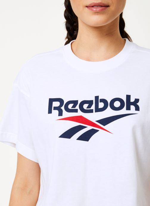 Vêtements Reebok Cl V Crop Tee Blanc vue face