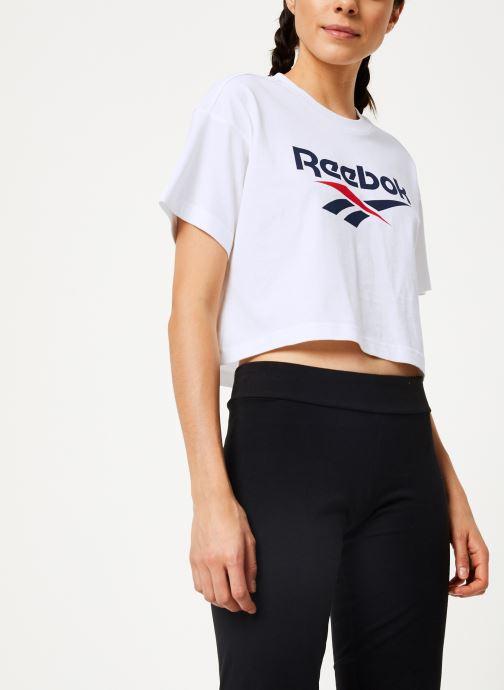 Vêtements Reebok Cl V Crop Tee Blanc vue détail/paire