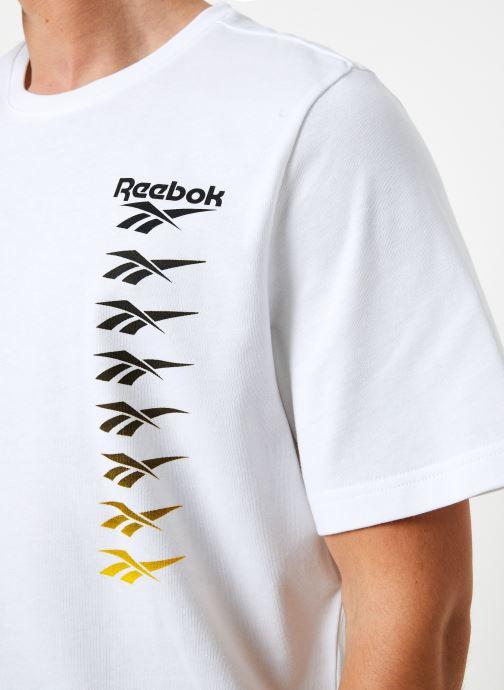 Vêtements Reebok Cl V P Tee Blanc vue face