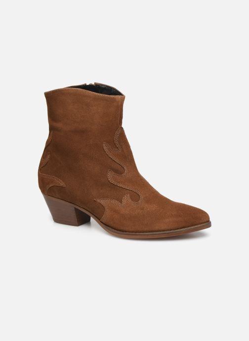 Ankelstøvler MKT Studio NICO SUEDE Brun detaljeret billede af skoene