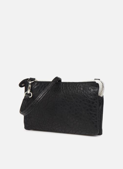 Clutch bags Pieces DAGNA CROSS OVER BAG CONTRAST ZIP Black model view