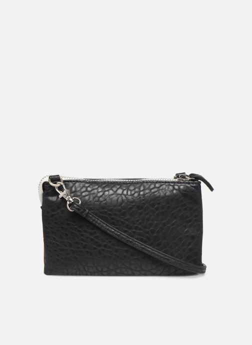 Clutch bags Pieces DAGNA CROSS OVER BAG CONTRAST ZIP Black front view