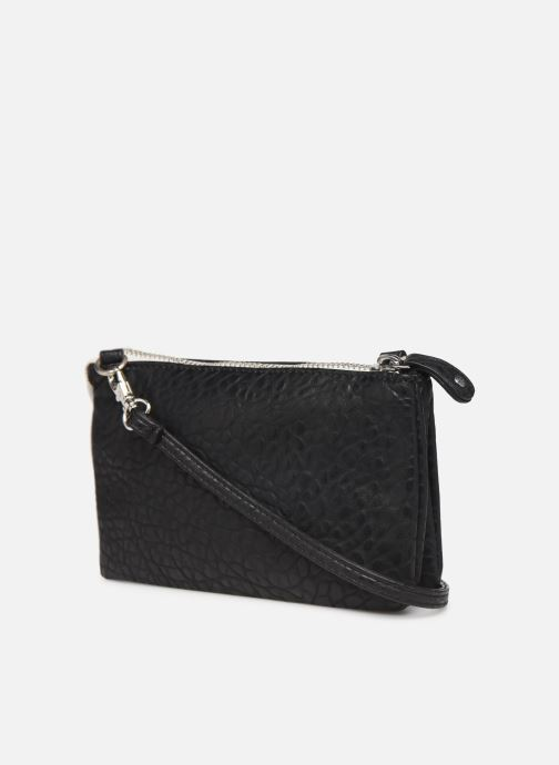 Clutch bags Pieces DAGNA CROSS OVER BAG CONTRAST ZIP Black view from the right